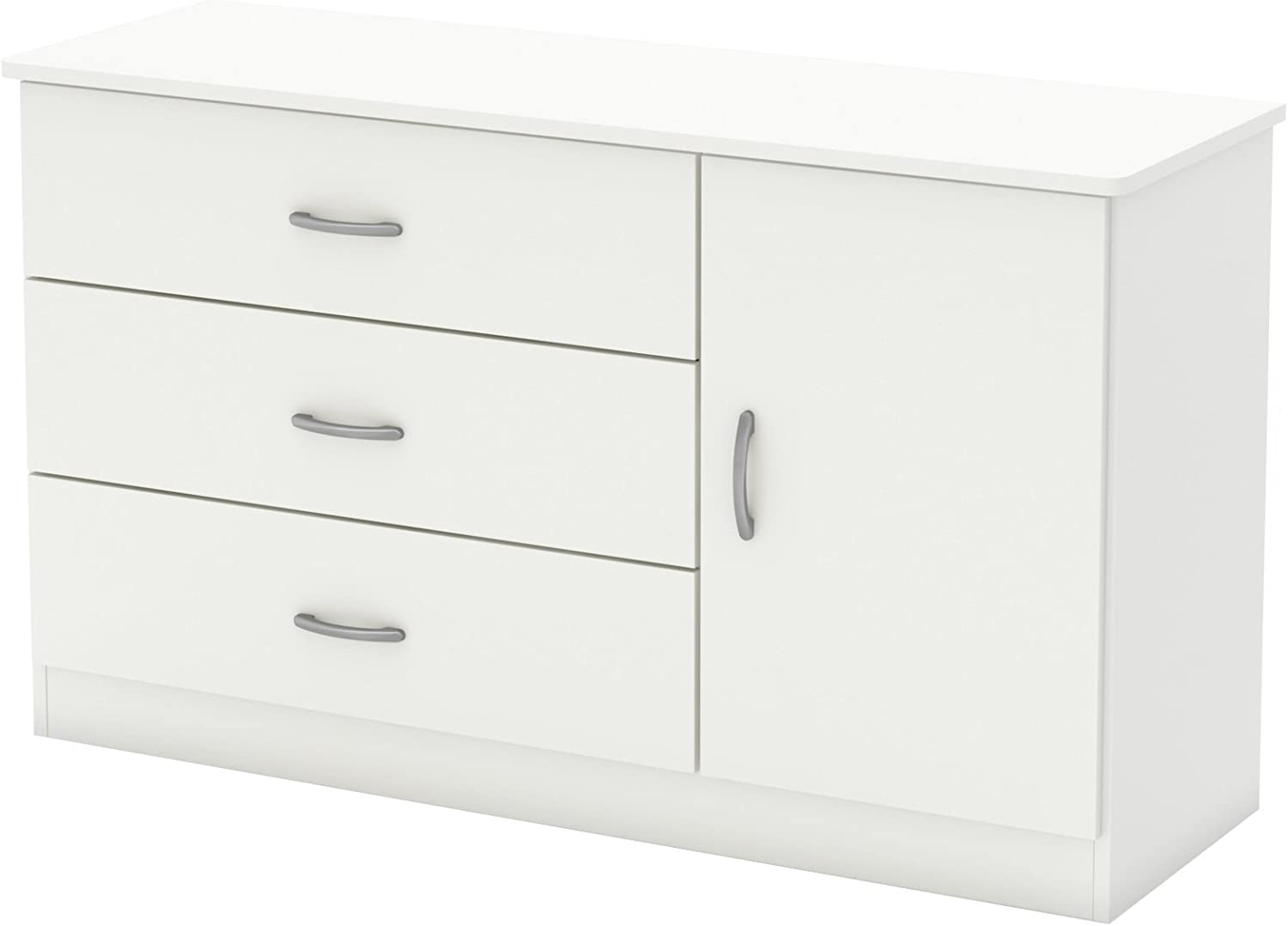 South Shore Libra 3-Drawer Chest Pure Black Black