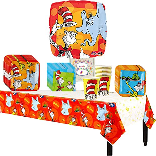 Dr Seuss Cat In The Hat Party Pack Bundle (Seuss Invitations)