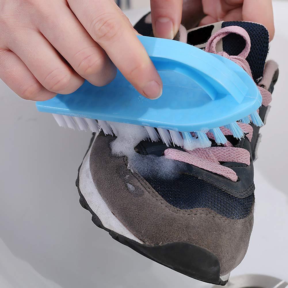 Spazzola per Pulizia con Manico per Vestiti e Scarpe 1 Pezzo Lsgepavilion plastica Random Color Taglia Unica