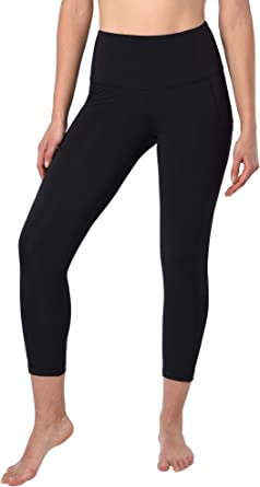 90 Degree By Reflex Squat Proof Side Phone Pocket Yoga Capris - High Waist Cropped Leggings