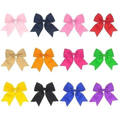 ACTLATI 12 Pack Cute Bowknot Hairpin Set Hair Clip Kit Baby Girls Kids Headwear Kit