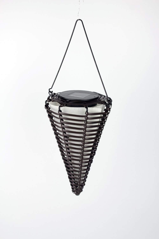 Solarleuchte Rattan Hängeleuchte Solarlampe Gartenlampe zum Aufhängen Leuchte