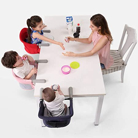 LIGUOPIN Fast Table Chair,Tight Fixing Clip on Baby or Toddler High Chair,Kids Removable Seat Portable Foldable Dining Table Chairs Black