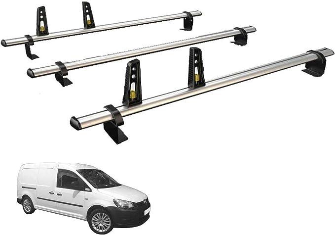 Van Guardia Ulti Bar 3 barras de techo de aluminio y 4 carga se detiene para VW Caddy Maxi (10 – 15): Amazon.es: Coche y moto