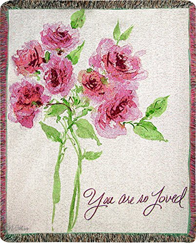 Manual Woodworkers & Weavers Tapestry Throw, You are So Loved, 50 x 60