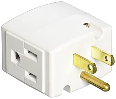 Leviton 692-W 15 Amp, 125 Volt, Triple Cube Grounding Adapter