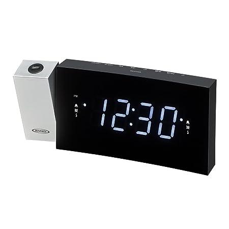 amazon com jensen jcr 238 digital dual alarm projection clock radio rh amazon com