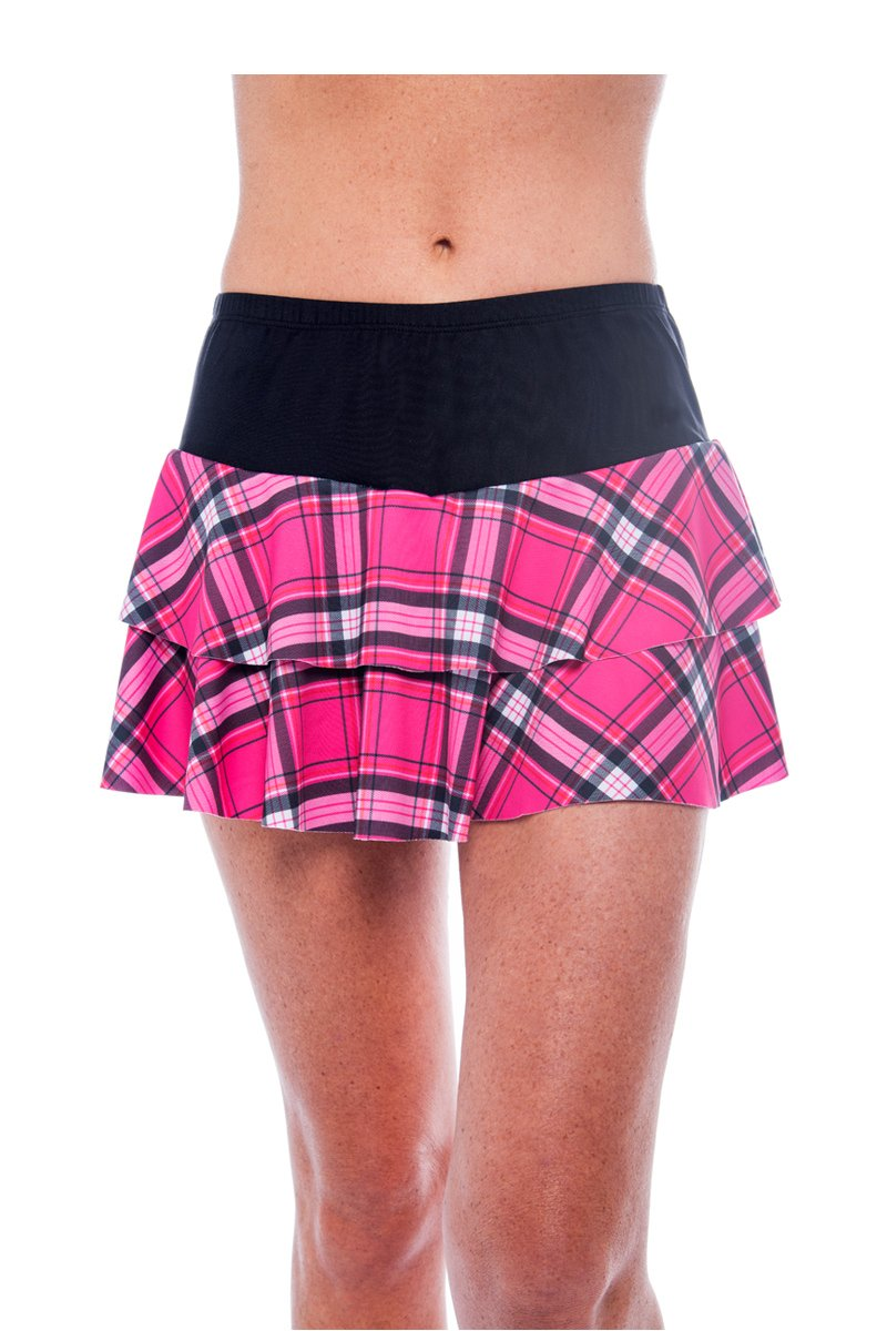 Show No Love Tennis Victory Collection: Double Tiered Skirt (size XL)