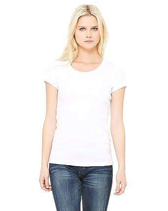 Bella Ladies 5.8 oz. 1x1 Baby Rib Scoop Neck at Amazon Women's Clothing  store: Fashion T Shirts
