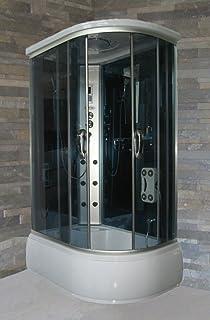 Baño Italia Box hidromasaje cabina ducha y bañera 6 chorros 170 x 85 cm luces LED ozonoterapia Bluetooth: Amazon.es: Bricolaje y herramientas