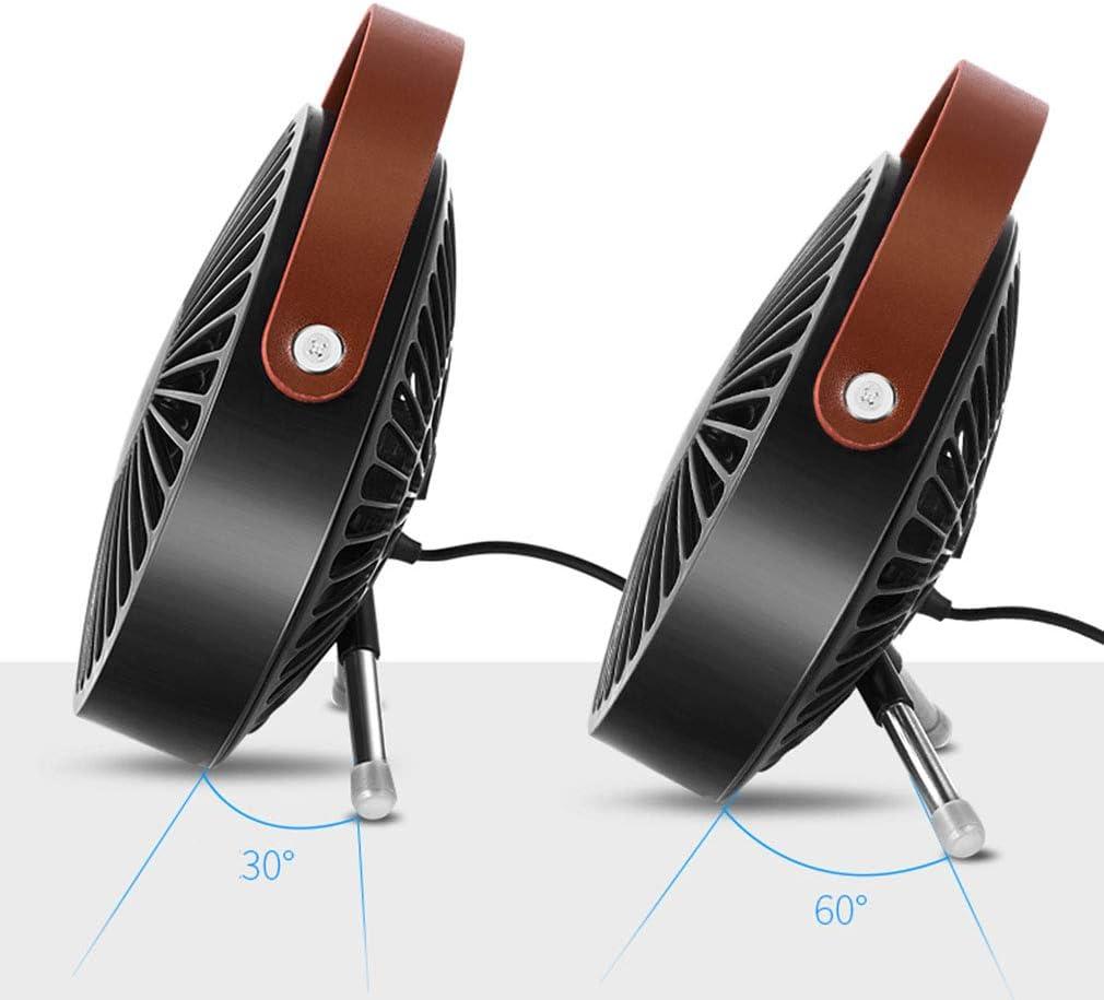 SXXDERTY USB Desk//Table Fan 6 Inch Handheld Fan 3 Speed Low Noise Power Bank Portable Cooling Fan