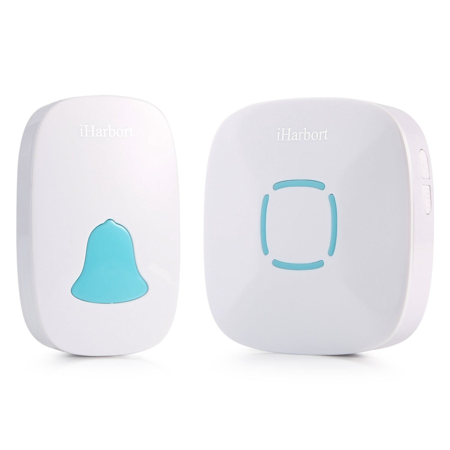iHarbort Waterproof Wireless Doorbell kit at 1000 ft Range 280 meters with 36 Chimes no battery required for receiver White