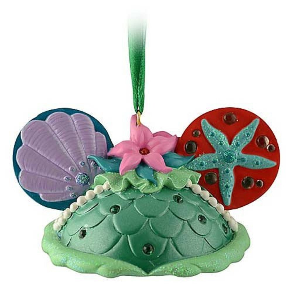 amazoncom disney ariel mickey mouse ears hat ornament home kitchen
