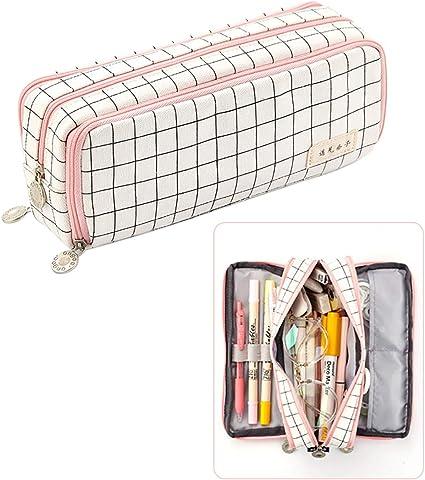 iSuperb Estuche de lápices Gran Multifuncional Pencil Case estuche de papelería para niñas Estudiante Plumier Lápices Bolsa: Amazon.es: Oficina y papelería