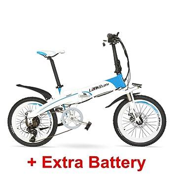 """LANKELEISI Batería Oculta de Alta Potencia G660 48V10Ah 20"""" Bicicleta de montaña eléctrica Plegable,"""