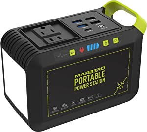 88Wh Portable Power Station, 24000mAh Camping Solar Generators Lithium Battery Power Supply with 110V/80W(Peak 120W) AC Outlet, USB QC3.0, LED Flashlights for CPAP Home Camping Emergency Backup