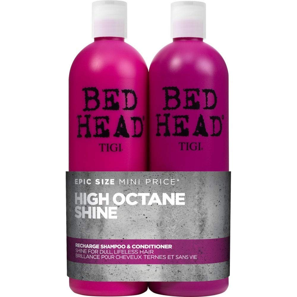 Bed Head by Tigi Recharge Shine Shampoo and Conditioner for Shiny Hair 2 x 750 ml