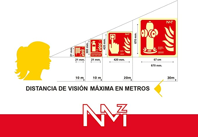 Se/ñal boca de incendio homologada PVC 21x30cm Rojo