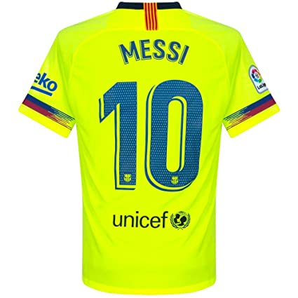 40c6d3faf7b NIKE Barcelona Away Messi 10 Jersey 2018 2019 (Official Pro Size Printing) -