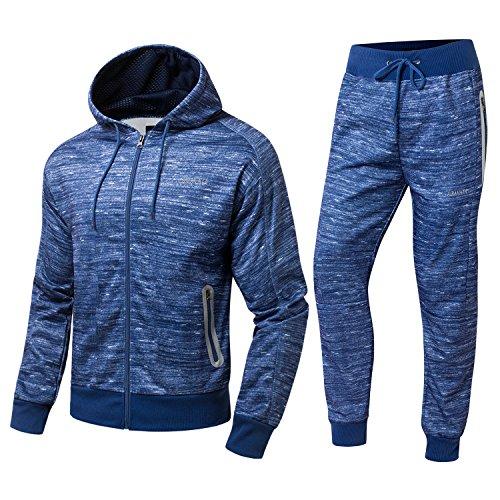Homme De À Jogging bleu Bleu Pantalon 3022 Capuche Sweatshirt Charbon Survêtement Ensemble gris Sport xCw6qx1p