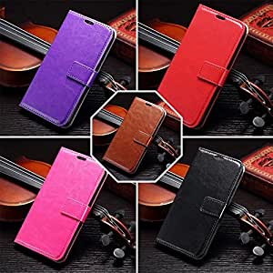 Luxury Flip Leather Stand Wallet 3 Card Holder Case Cover For Samsung Galaxy S6 -50pcs Wholesale --- Color:Purple