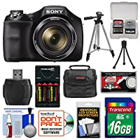 Sony Cyber-Shot DSC-H300 Digital Camera with 16GB Card + Batteries & Charger + Case + Tripod + Accessory Kit from Sony