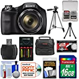 Sony Cyber-Shot DSC-H300 Digital Camera with 16GB Card + Batteries & Charger + Case + Tripod + Accessory Kit