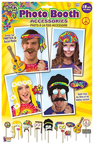 Forum Novelties X75903 Hippie Décoration Photo Booth, Multi-Colour, One Size]()