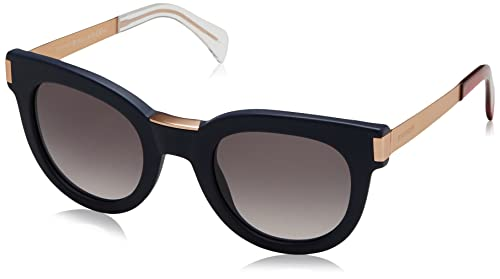 Tommy Hilfiger Unisex-Erwachsene Sonnenbrille TH 1379/S EU, Schwarz (Blue Gold), 49
