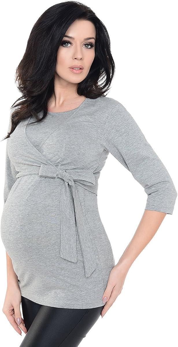 Maternity /& Nursing 3//4 Haut à Manches