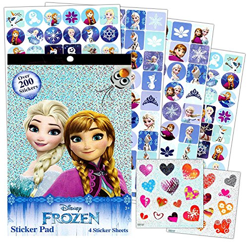 Disney Frozen Stickers - Over 200 Stickers - Elsa, Anna, Olaf, and Kristoff