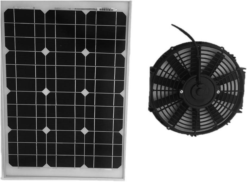 Amtrak Solar 35 W solar ventilador de ático: Amazon.es: Bricolaje ...
