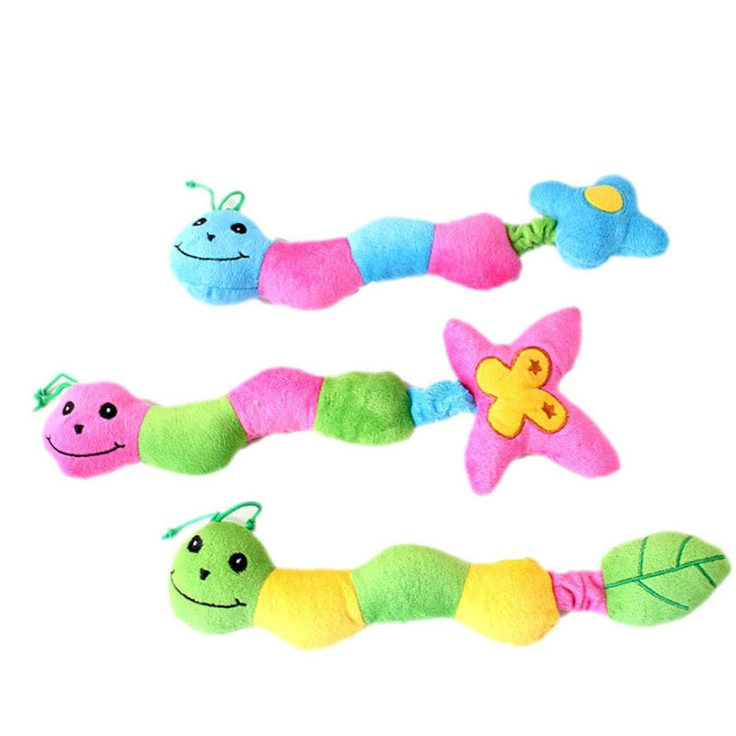 Celendi Lovely Dogs Toys Cute Little Bug Type, Plush Squeaky Fun Chew Toys for Puppy