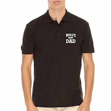 cc8f74dc4 Giftsmate Men's Cotton Worlds Best Dad Mens Polo T-Shirt For Dad S (Black