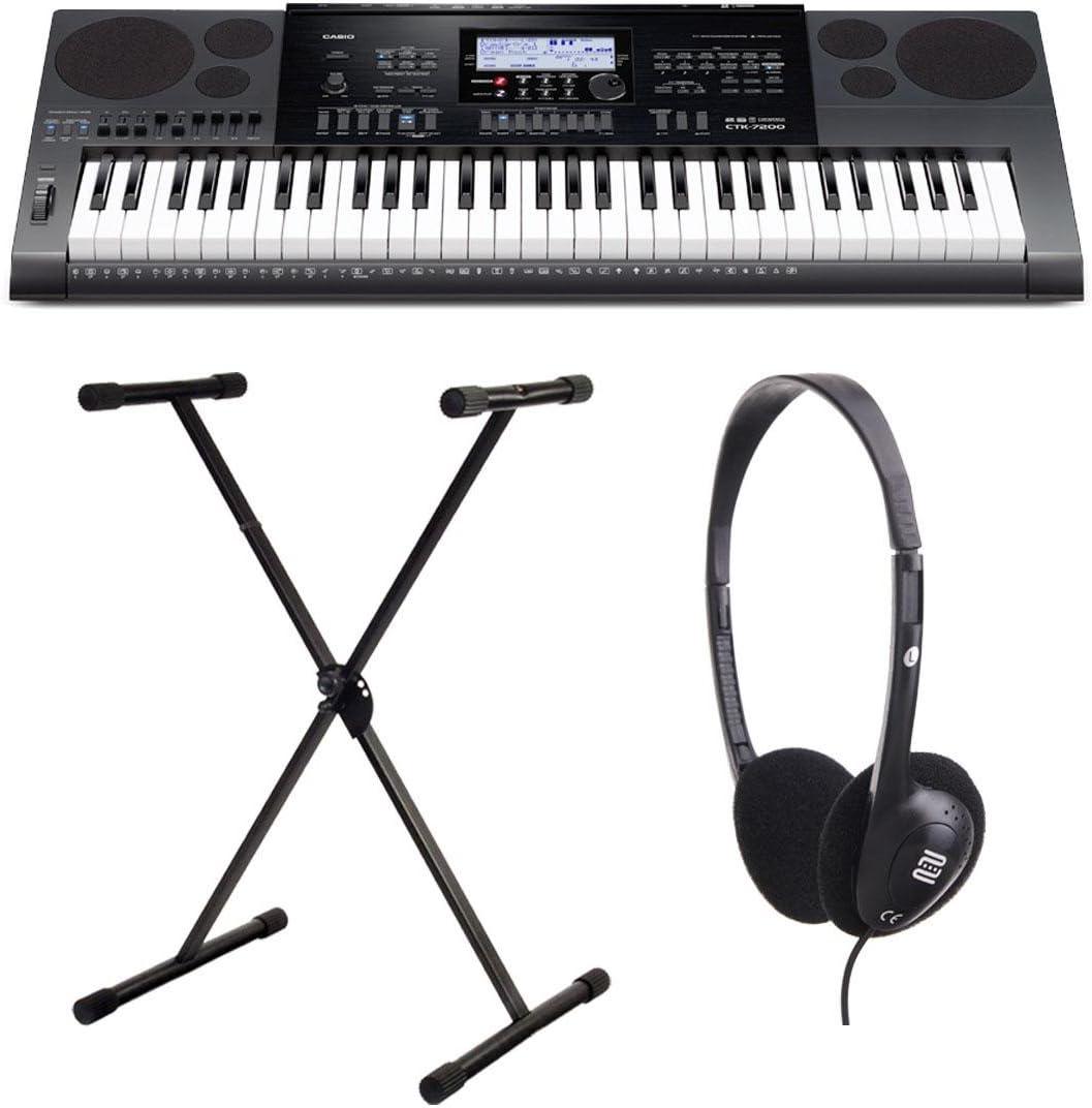 Casio CTK-1100 7200 Keyboard Set Incluye soporte y cascos ...