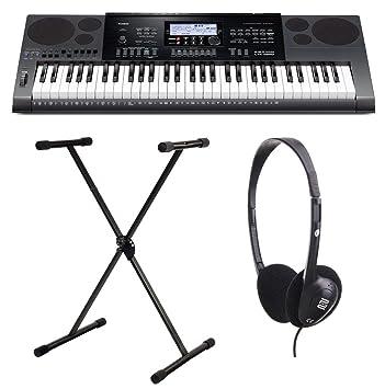 Casio CTK-1100 7200 Keyboard Set Incluye soporte y cascos: Amazon.es: Instrumentos musicales