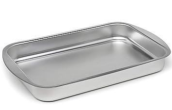 Bandeja de horno para asar pequeña, bandeja para horno de 25 x 17 cm