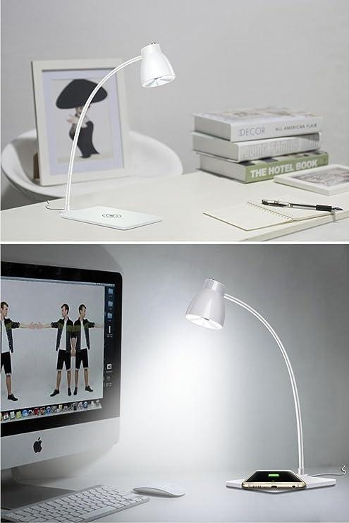 Amazon.com: Lámpara de computadora LED con cargador Qi ...