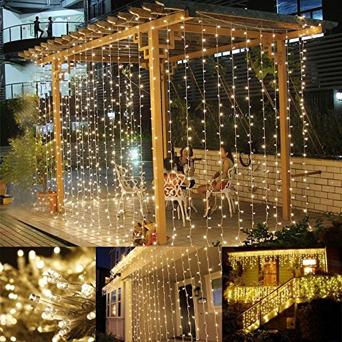 led window curtain icicle lights