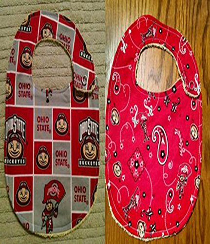 Ohio State Inspired Football Bib or Burp Cloth