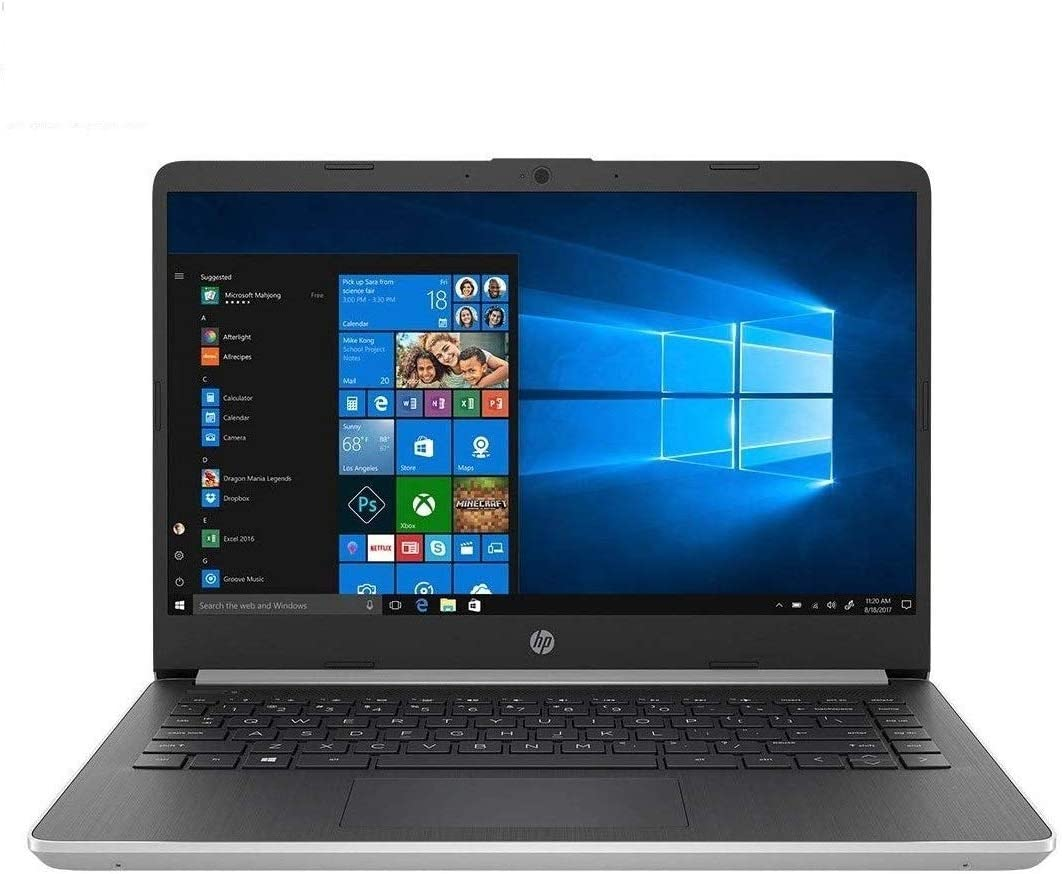 "2020 HP 14 Laptop Computer/ 14"" IPS WLED-Backlit FHD/ 10th Gen Intel Core i5-1035G4 Up to 3.7GHz/ 8GB DDR4 RAM/ 512GB SSD/ 802.11AC WiFi/ Bluetooth 5.0/ HDMI/ Windows 10/ Silver"
