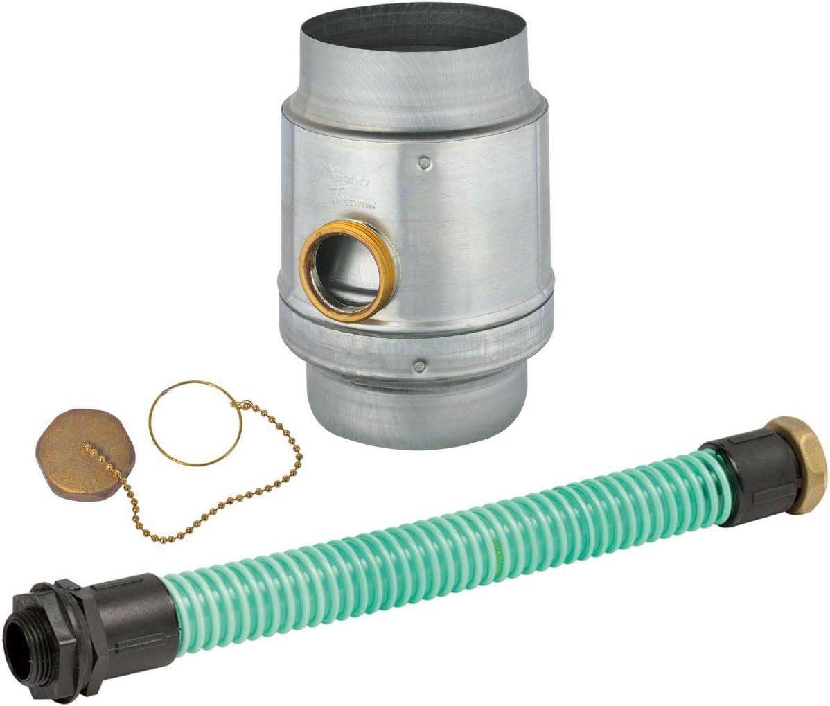 /Überlaufschutz Regenwassersammler-Set Titanzink 3tlg 100 mm /Ø