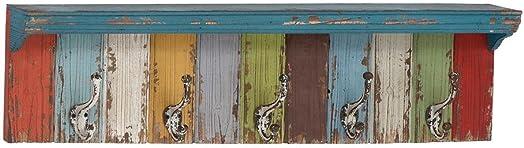 Deco 79 Wood Metal Wall Hook, 35 by 9-Inch