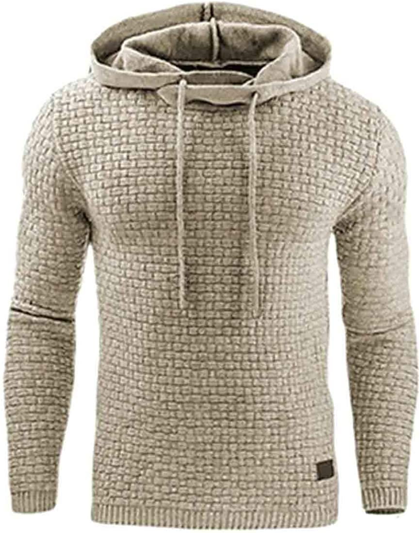 Sweatwater Mens Long Sleeve Autumn Sports T Shirt Pullover Hooded Sweatshirts