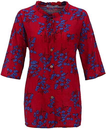 AIFGR Camisa de Mujer Damas Moda más tamaño impresión ...