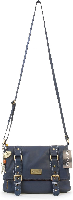 Catwalk Collection Handbags Abbey, Sac d'épaule Bleu Foncé