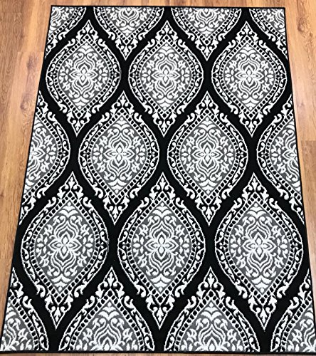 Antep Rugs Kashan King Collection 512 Area Rug Gray and Black 8' X 10'