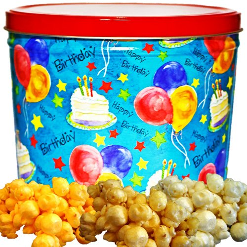 Happy Birthday Popcorn Gift Tin Small by Just Poppin