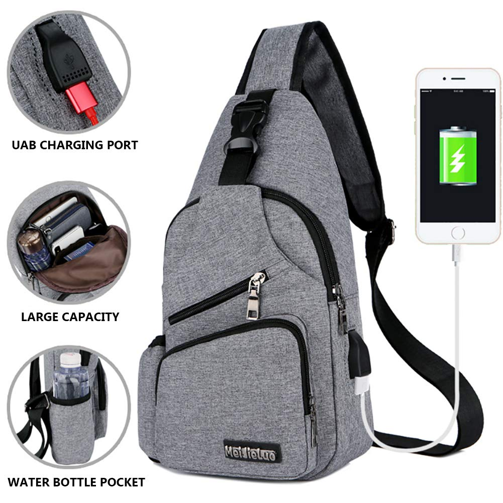 ec97fac047 Peicees Small Travel Gym Bike Sling Bag, Laptop iPad Mini Sling ...