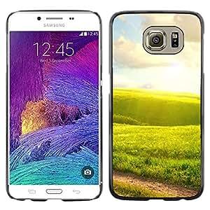 TopCaseStore / la caja del caucho duro de la cubierta de protección de la piel - Nature Green Fields - Samsung Galaxy S6 SM-G920
